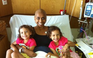 Cancer survivor Mellissa and her daughters