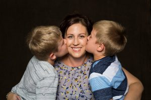 Mummy's Wish Mum Annette and her two kids
