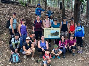 The group of family and friends telling cancer to take a hike
